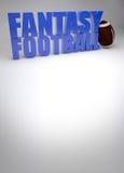 De achtergrond van de fantasievoetbal Stock Foto's