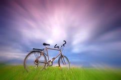 De achtergrond van de fiets Stock Afbeeldingen