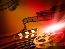 De achtergrond van de film. vector illustratie