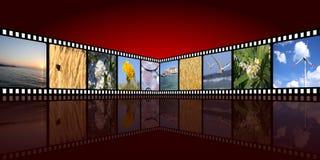 De achtergrond van de film Royalty-vrije Stock Afbeelding