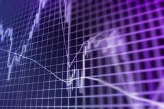 De achtergrond van de financiënbeurs Stock Foto