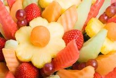 De Achtergrond van de fruitsalade royalty-vrije stock afbeelding