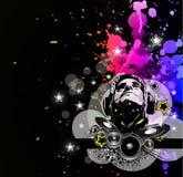 De Achtergrond van de Gebeurtenis van de disco met de Elementen van de Muziek Royalty-vrije Stock Fotografie