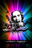 De Achtergrond van de Gebeurtenis van de muziek met de Vorm van DJ Royalty-vrije Stock Fotografie