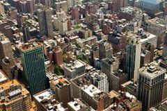 De Achtergrond van de Gebouwen van de Stad van New York Stock Fotografie