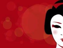 De Achtergrond van de geisha Stock Afbeelding