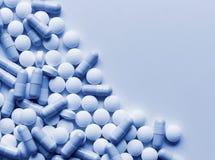 De Achtergrond van de Geneeskunde van pillen Stock Foto