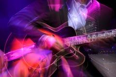 De achtergrond van de gitaar Stock Fotografie