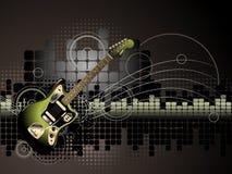 De Achtergrond van de gitaar Royalty-vrije Stock Foto's