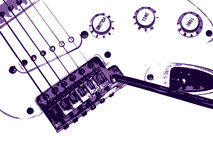 De achtergrond van de gitaar. De stijl van Grunge. Royalty-vrije Stock Fotografie