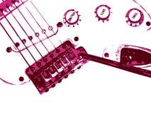 De achtergrond van de gitaar. De stijl van Grunge. Stock Foto
