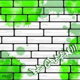 De achtergrond van de graffitimuur, stedelijk art. stock illustratie