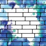 De achtergrond van de graffitimuur, stedelijk art. Stock Fotografie