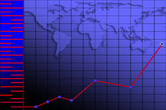 De achtergrond van de grafiek Royalty-vrije Stock Foto