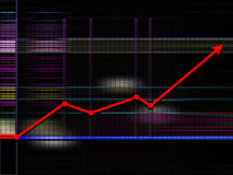 De achtergrond van de grafiek Stock Afbeeldingen