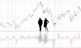 De achtergrond van de grafiek met mensen Royalty-vrije Stock Foto