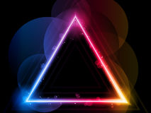 De Achtergrond van de Grens van de Driehoek van de regenboog Royalty-vrije Stock Foto's