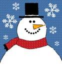 De Achtergrond van de Grens van de sneeuwman royalty-vrije illustratie