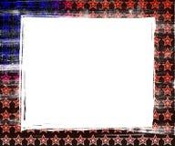De Achtergrond van de Grens van Grunge van het Frame van de vlag Stock Afbeeldingen