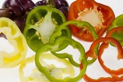 De Achtergrond van de groene paprika Stock Foto