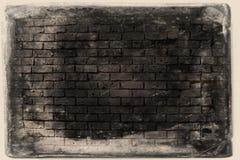 De achtergrond van de Grungebakstenen muur Stock Fotografie