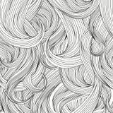 De achtergrond van de haarstijl. Vectorreeks. Stock Fotografie