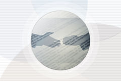 De Achtergrond van de handdruk Stock Afbeeldingen