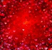 De Achtergrond van de Harten van de valentijnskaart Stock Foto