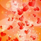 De achtergrond van de Harten van valentijnskaarten Stock Foto's