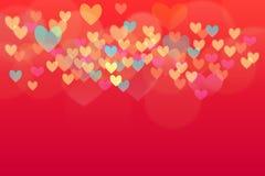 De achtergrond van de hartvalentijnskaart Stock Afbeelding