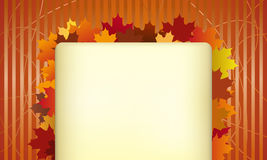 De achtergrond van de herfst stock illustratie