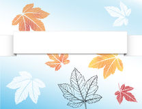 De achtergrond van de herfst met bladeren Royalty-vrije Stock Afbeelding