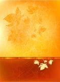 De Achtergrond van de herfst met doorbladert Royalty-vrije Stock Afbeelding