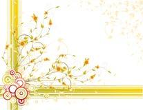 De achtergrond van de herfst met gele bladeren Stock Fotografie