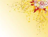De achtergrond van de herfst met gele bladeren Royalty-vrije Stock Afbeelding