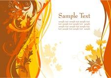 De achtergrond van de herfst met ruimte voor tekst Royalty-vrije Stock Foto's