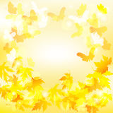 De achtergrond van de herfst Rode en oranje het bladclose-up van de kleurenKlimop Vector illustratie Stock Foto's
