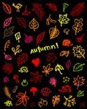 De achtergrond van de herfst, schetstekening voor uw ontwerp Stock Foto