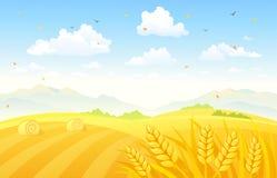 De achtergrond van de herfstgebieden stock illustratie