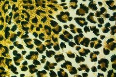 De achtergrond van de het patroontextuur van het luipaardleer Royalty-vrije Stock Foto's