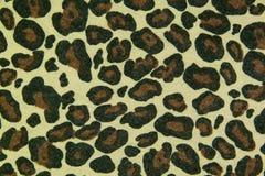 De achtergrond van de het patroontextuur van het luipaardleer Stock Afbeeldingen