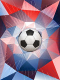 De Achtergrond van de het Voetbalbal van Frankrijk Royalty-vrije Stock Fotografie