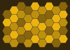 De Achtergrond van de honingraat Royalty-vrije Stock Afbeeldingen