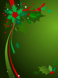 De Achtergrond van de Hulst van Kerstmis #3 Stock Foto's
