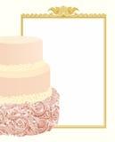 De achtergrond van de huwelijkscake Royalty-vrije Stock Foto