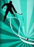 De achtergrond van de ijshockeysport stock foto