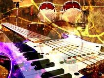 De achtergrond van de jazz Stock Afbeelding