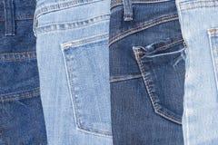 De achtergrond van de jeanstextuur, het Oude ontwerp van de Jeansmanier Royalty-vrije Stock Fotografie