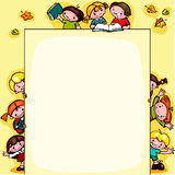 De achtergrond van de jonge geitjesschool Stock Foto
