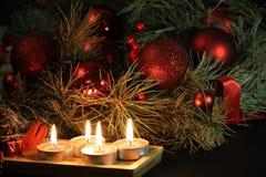 De Achtergrond van de Kaarsen van Kerstmis Royalty-vrije Stock Afbeeldingen